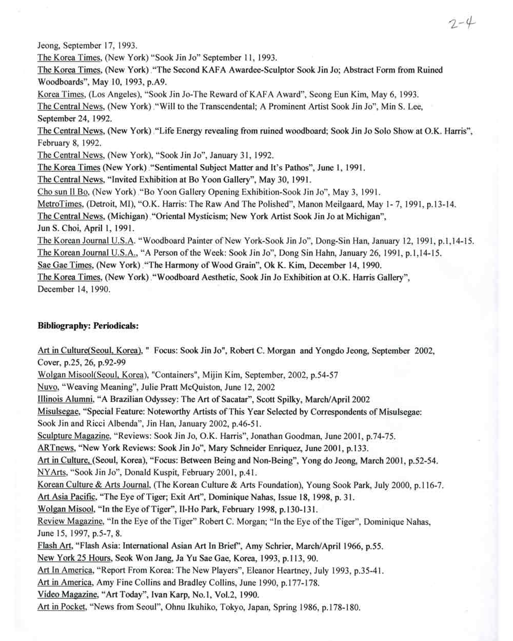 Sook Jin Jo's resume, pg 4